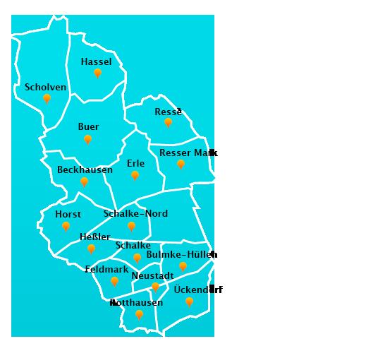 Stadtteile Winterdienst Schnee- Eisbeseitigung Gelsenkirchen